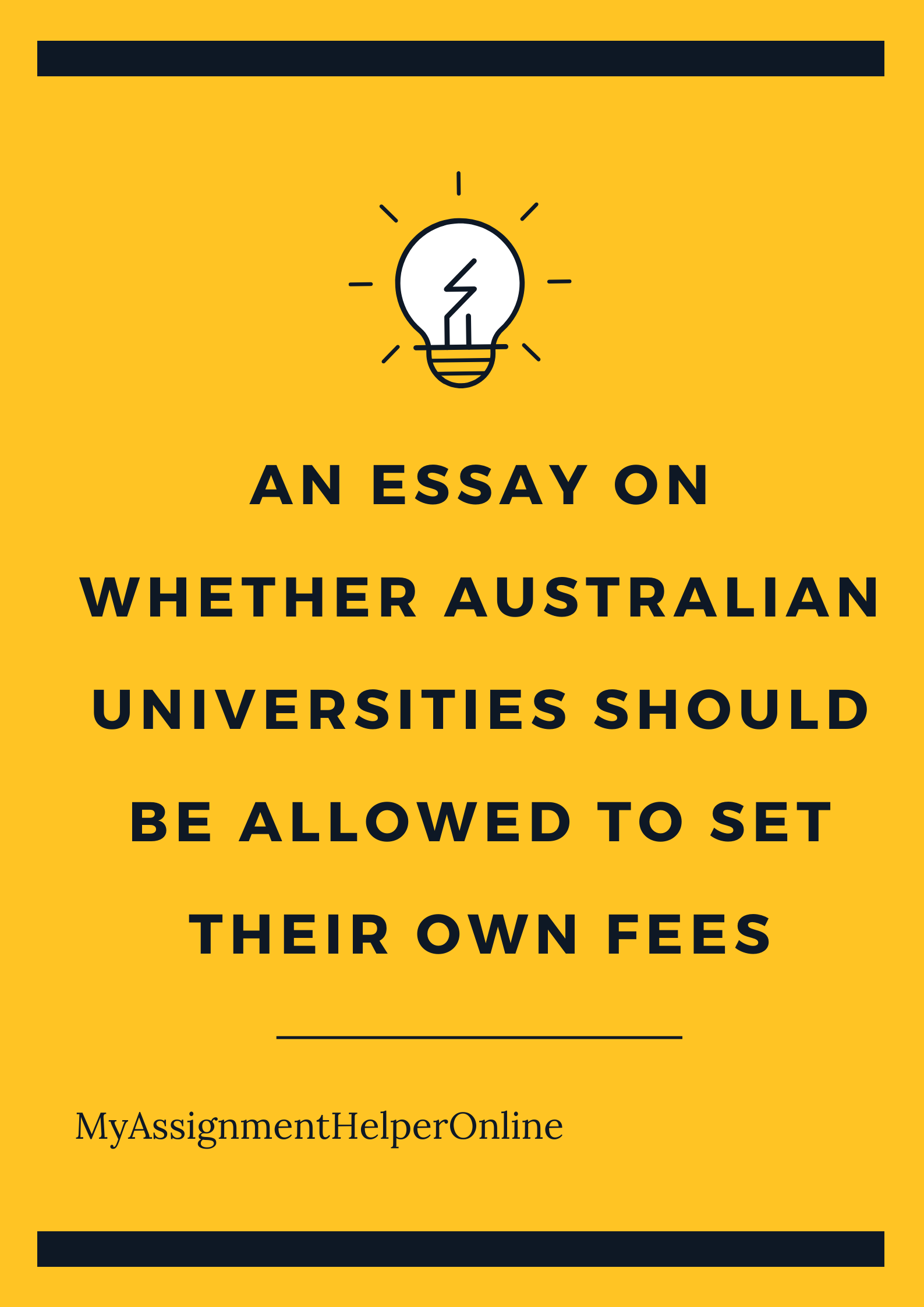 Should Australian Universities Set Their Own Fees